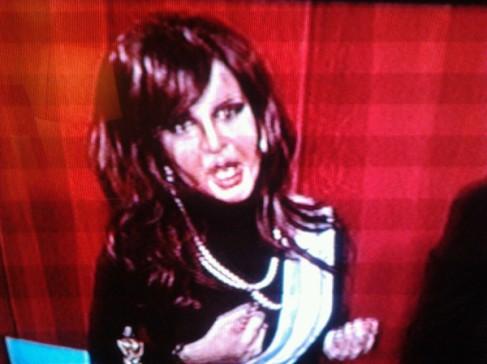 Cristina Kirchner caracterizada por Fátima Florez.