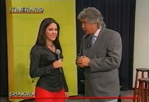 Shakira, por primera vez en Argentina, en 1996.